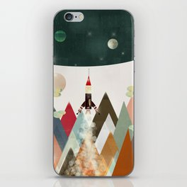 living on the moon iPhone Skin