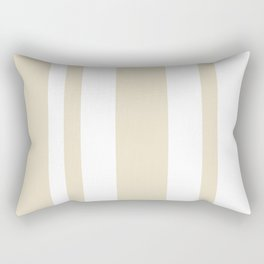 Mixed Vertical Stripes - White and Pearl Brown Rectangular Pillow
