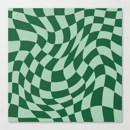 Play Checkers Sage Canvas Print