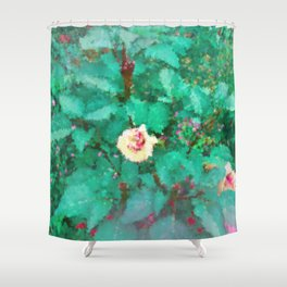 The Green Garden Shower Curtain