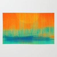 marina Area & Throw Rugs featuring Marina Dream by Victor Vercesi