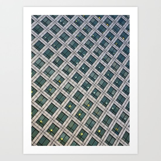 Canary Wharf Windows Art Print