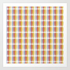 Feathers in rows Art Print