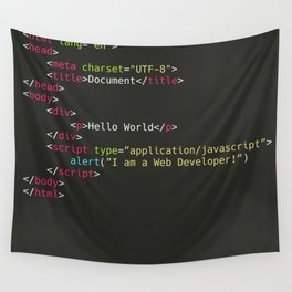 Hello World, I am a Web Developer Wall Tapestry