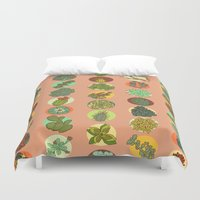 succulents Duvet Covers featuring Succulents by SarahRobbins