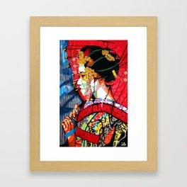 American Geisha Framed Art Print