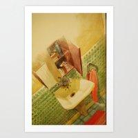 toilet Art Prints featuring TOILET by XA-BCN