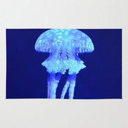 Blue jellyfish Rug
