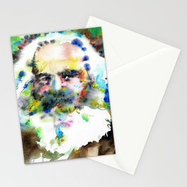 KARL MARX - watercolor portrait .3 Stationery Cards