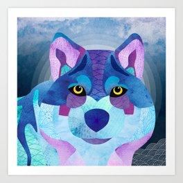 Shanti Sparrow: Shadow the Wolf Art Print