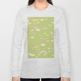 Lime terrazzo Long Sleeve T-shirt