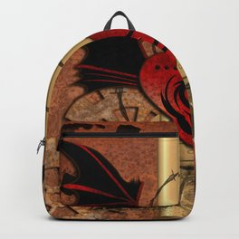 Heart with dragon and wings Backpack
