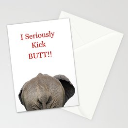 Elephant Butt Humor Stationery Cards