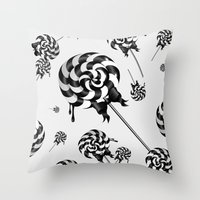 goth Throw Pillows featuring Goth Lollies by All Is One