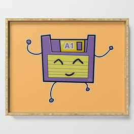A1 Cute Dancing Floppy Disk Serving Tray
