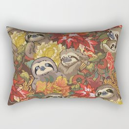 Because Sloths Autumn Rectangular Pillow