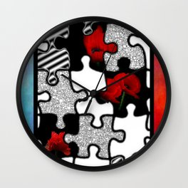 poppylove with puzzle-design -2- Wall Clock