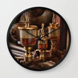 Steam engine oilers - landscape Wall Clock