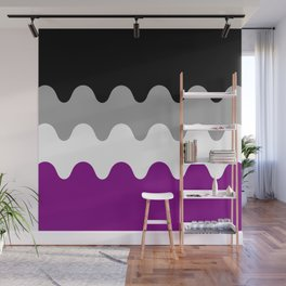 Wavy Asexual Flag Wall Mural
