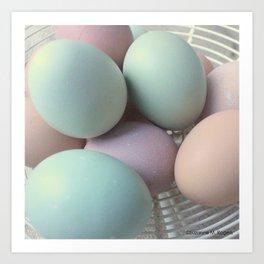 Fresh Basket of Hen Eggs, No. 2 Art Print