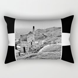 Cornish Tin Mine And Flag Rectangular Pillow