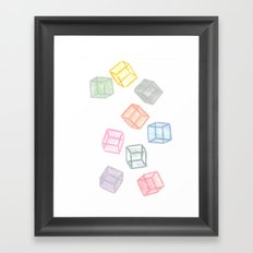 Cubes  Framed Art Print