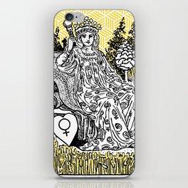 Geometric Tarot Print - The Empress iPhone Skin