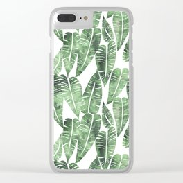 Island Goddess Leaf Green Clear iPhone Case