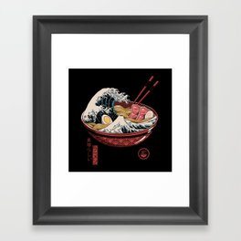 Great Ramen Wave Framed Art Print