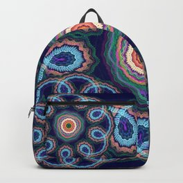Fantasy flowers with swirling tribal patterns Backpack