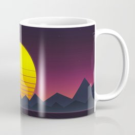 Vaporwave\\Mountain Coffee Mug