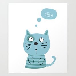 What is kitty thinking? Art Print