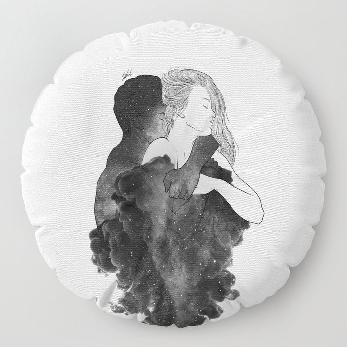 You are my peaceful heaven b&w. Floor Pillow