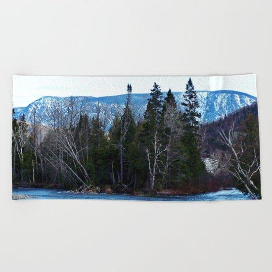 Blue Mountain River Beach Towel