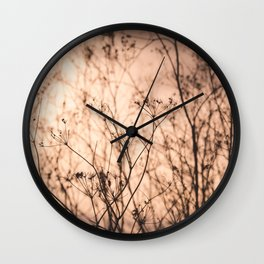 Tall Grass Wall Clock