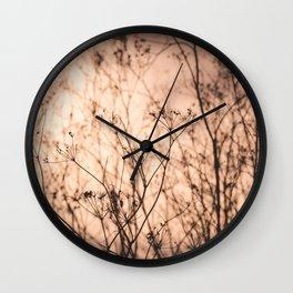 Tall Grass Wall Clock