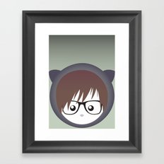 nerdy Framed Art Print