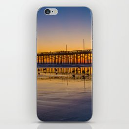 Seagulls at Sunset at Newport Pier iPhone Skin