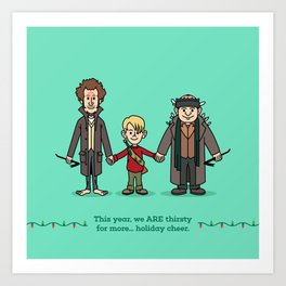 Marv and Kevin and Harry Art Print