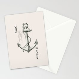 Anchor & Rope Stationery Cards