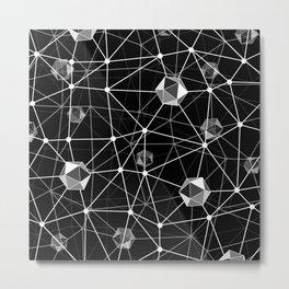 Black and White Geometric Shape Constellation Dream Metal Print