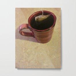 Red Mug Of Java Metal Print