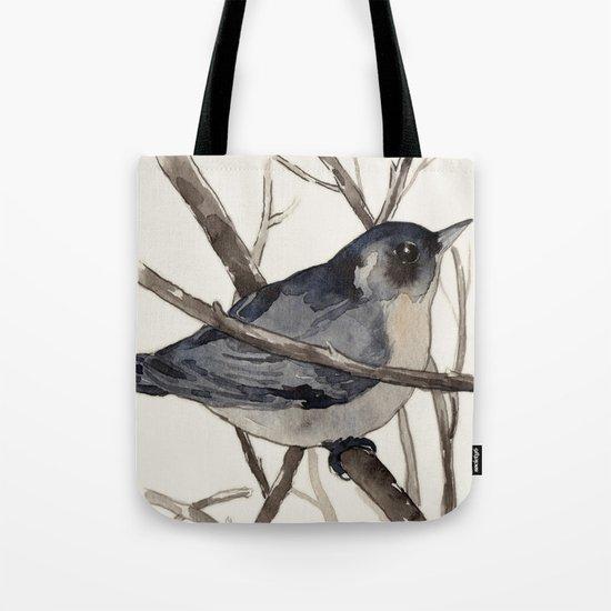 Grey Birdy 2 Tote Bag