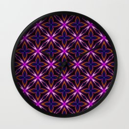 light flower pattern Wall Clock