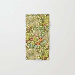 William Morris Golden Lily Vintage Pre-Raphaelite Floral Hand & Bath Towel