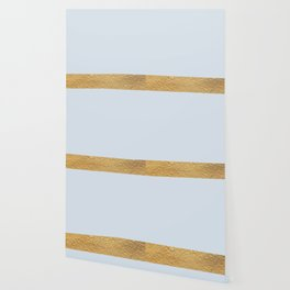Color Blocked Gold & Periwinkle Wallpaper