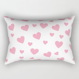 Hearts pattern - pink Rectangular Pillow