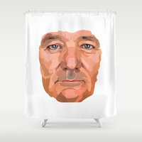 bill murray Shower Curtains featuring Shaping the Stars - Bill Murray by zajface