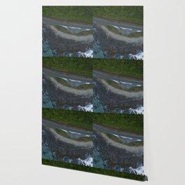 kaikoura coastline vertical view by drone camper serpentines Wallpaper