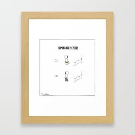 Human Daily Cycle ! Framed Art Print